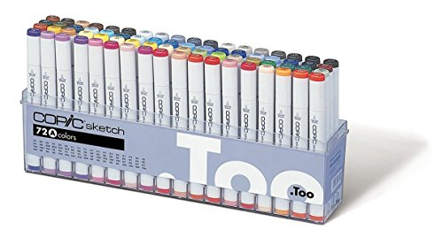 Copic Marker 72-Piece Sketch Set A