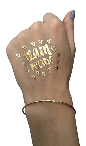 Bachelorette party tattoos by bridal swan mixed set of 40 for Fake tattoos amazon