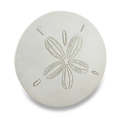 Weathered-Finish-white-Sand-Dollar-Wall-Hanging-Plaque