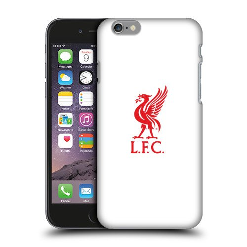 Official Liverpool FC LFC Red Logo On White Liver Bird Hard Back Case Cover for Apple iPhone 6