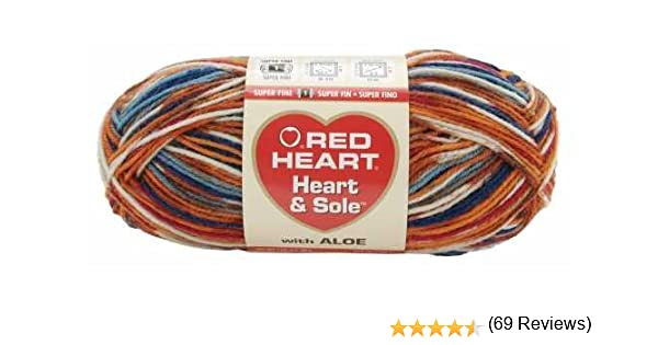 Amazon.com: Red Heart Heart & Sole Yarn-Rustica: Arts, Crafts & Sewing