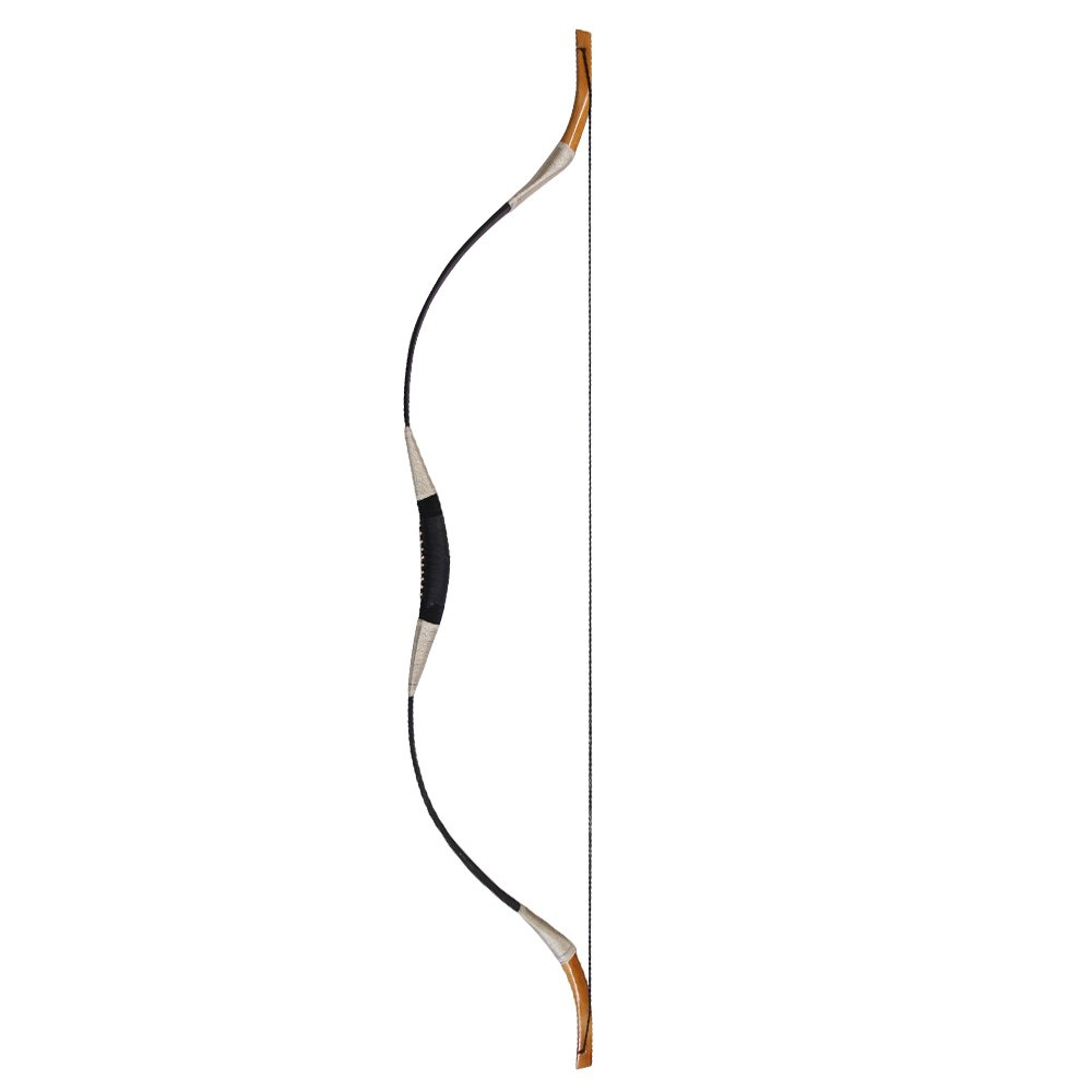 Huntingdoor 55 Inch Black Recurve Archery Bow Hunting Bow Traditional Handmade Horsebow 30-60 Pound