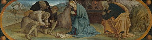 Oil Painting 'The Adoration Of The Shepherds 1490-1510, Luca Signorelli' 18 x 69 inch / 46 x 175 cm , on High Definition HD canvas prints is for Gifts And - Centre Town Pump Short