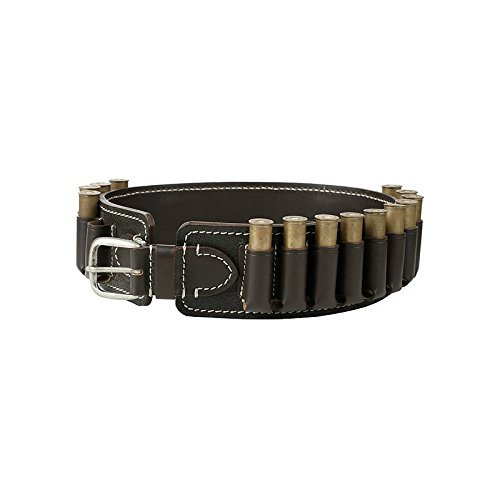 Open Handmade Leather Shotgun Shell Cartridge Belt 12 Gauge Western for Hunting by Stich Profi Russia