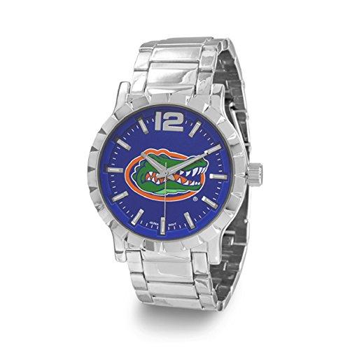 2017 Florida Gators Men's Sport's, Silver & Blue College-NCAA,Logo Football/Basketball Watch W9317-FLA