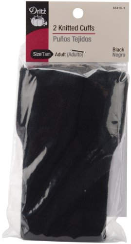 - Dritz 55415-1 Knitted Cuffs, Adult Size, Black (2-Count)