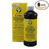 6pk – Lydia Pinkham Herbal Liquid Supplement 16 Oz For Sale