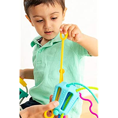 MOBI ZIPPEE - Activity Toy for Sensory Development - Age 6 Month to Toddlers - Designed by Parents and Reviewed by Doctor's - BPA and Phthalate Free - Made with Food Grade Silicone - For Boys or Girls: Toys & Games
