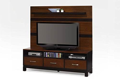 """Ultimate Accent WAL-70 70"""" Console and Hutch, Walnut"""