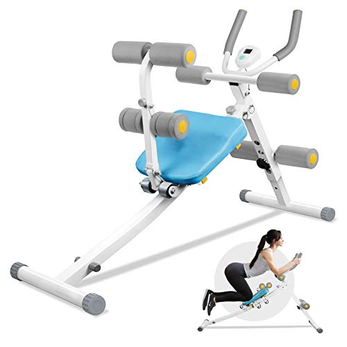 ERGO LIFE Core & Abdominal Trainers Foldable Abs Trainer and Sit Up Bench 2 in 1 for Whole Body Exercise Height…