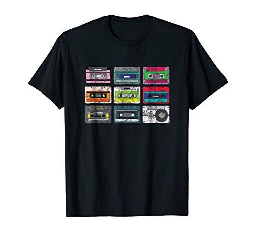 Cassette Tapes Mixtape T-Shirt Vintage 80s 90s Retro Music