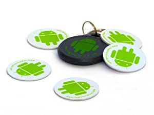 TagsForDroid 5 NFC Tags + 1 NFC Key Chain + Stickers (MIFARE 1K)