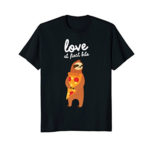 Love at First Bite Funny Sloth Shirt (What Do You Want On Your Pizza)