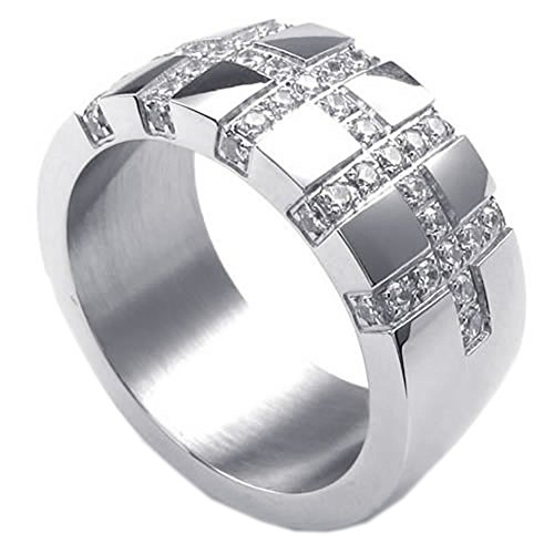 KONOV Womens Stainless Steel Silver