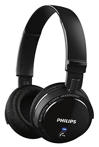 Philips SHB5500BK/27 Wireless Bluetooth Headphones, Black