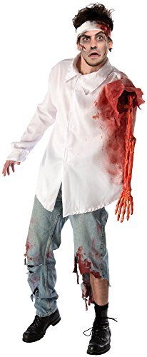 Forum Novelties Men's Zombie Attack Costume Shirt, Multi, Standard -