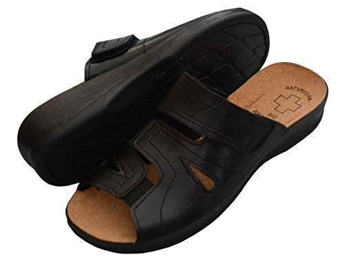 da Schwarz in Lavoro 3518 Sughero Pantofole Bawal Sabot Comfort Donna Modello Sandali 050 aSRSqpf