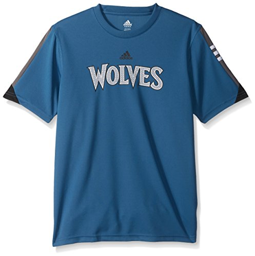 NBA Youth 8-20 Minnesota Timberwolves Possession Short Sleeve Performance Tee-Capital Blue-XL(18) Minnesota Timberwolves T-shirt