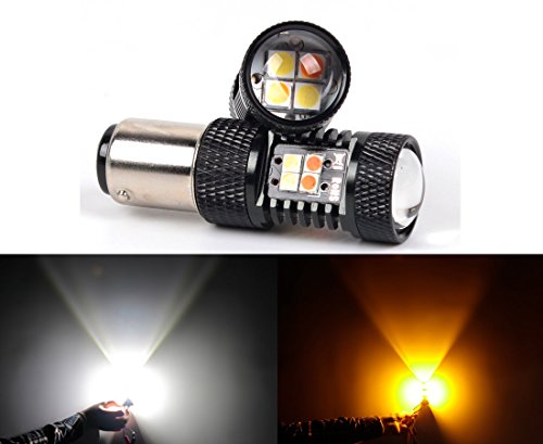LED import USA 3030 SMD White/Yellow 1157 2057 2357 7528 Switchback LED Bulbs For Turn Signal Lights Caprice Turn Signal
