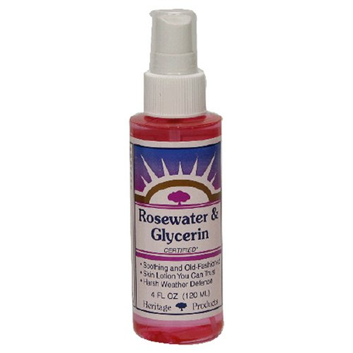 Heritage Products Rosewater & Glycerin, 4-Ounces (Pack of 6) by Heritage Store