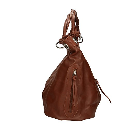 en véritable Made femme cuir Cm Marron Italy in à Sac bandoulière 42x34x16 Aren gnywqcSRZW