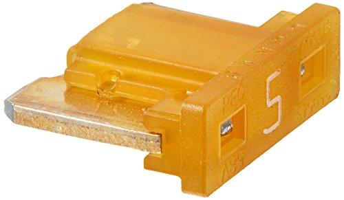 Bussmann BP/ATM-5LP-RP Low Profile ATM Automotive Blade Fuse (5 Amp (Card)), 5 Pack