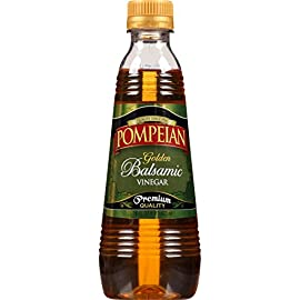 Pompeian Golden Balsamic Vinegar - 16 Ounce 116 Farmer-crafted from sweet Trebbiano white grapes harvested in the U.S. and Spain Pairs perfectly with Pompeian's farmer-crafted olive oils Ideal choice for mild vinaigrettes, dressings, and sauces