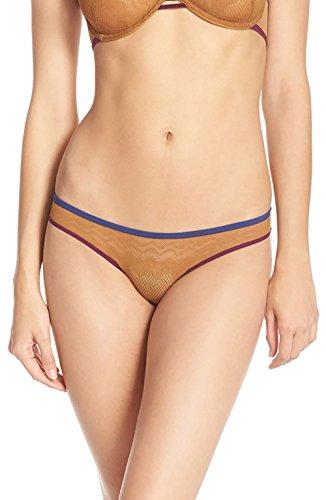 Free People Women's 'Rise Over Run' Bikini Briefs (XS, Gold)