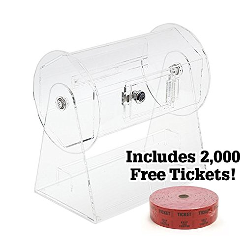 Raffle Ticket Drums (Small Acrylic Raffle Drum w/2,000 Free Tickets by Midway Monsters)