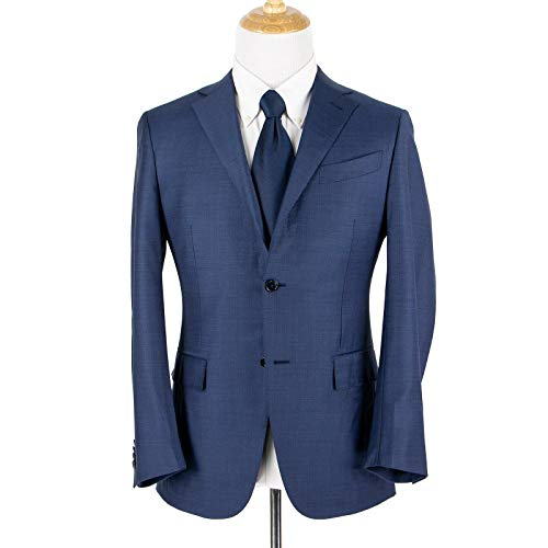 Ermenegildo Zegna Mil Easy Blue Trofeo Wool Micro-Checked for sale  Delivered anywhere in USA