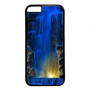 iCustomonline 3D Waterfall Designs Case Back Cover for iPhone 6 Plus (5.5 inch) Black PC Material