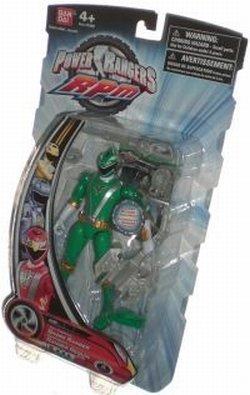 Power Rangers RPM 5 Inch Basic Action Figure Full Throttle Shark Ranger (Green) by Bandai