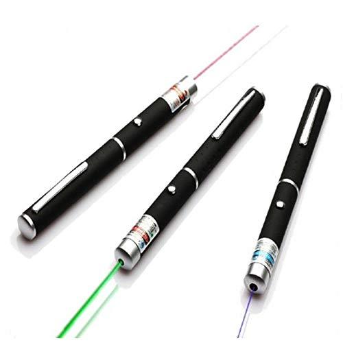 Genmine 5mw 3PCS L-a-s-e-r P-o-i-n-t-e-r Pen Red + Green + Blue/Violet...