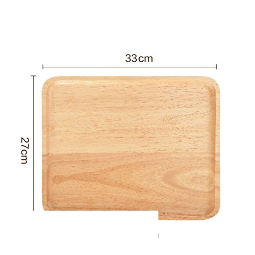 Glass Plate Fruit (Wooden Fruit Plate Rectangular Tray Tea Tray Plate Glass Fruit Tray Plate-A)