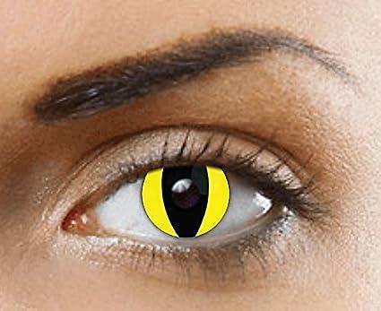 Phantasy Eyes ®Lentilles de Contact de couleur - Halloween Crazy Lens  (YELLOW CAT EYE d3842fdb35e9