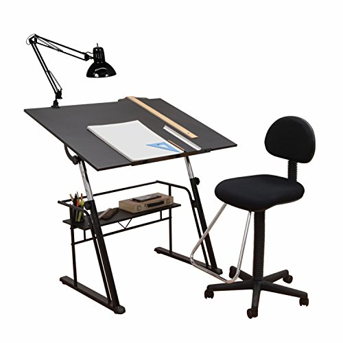 Offex Home Zenith Drafting Set Black by Offex