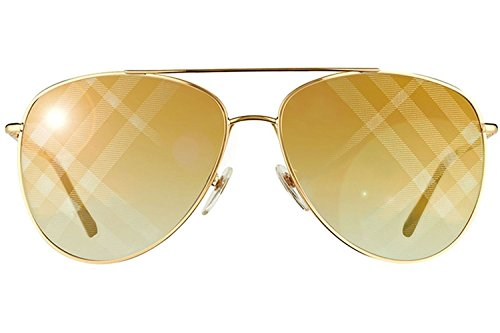 Burberry Womens Sunglasses (BE3072) Gold/Brown Metal - Non-Polarized - - Ladies Sunglasses Burberry