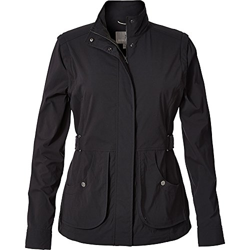 Royal Robbins Women's Discovery Convertible Jacket, Jet Black, - Convertible Womens Jacket