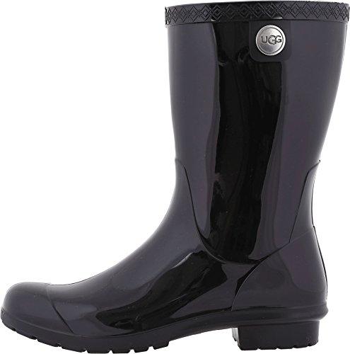 UGG Women's Sienna Rain Boot, Black, 9 B US