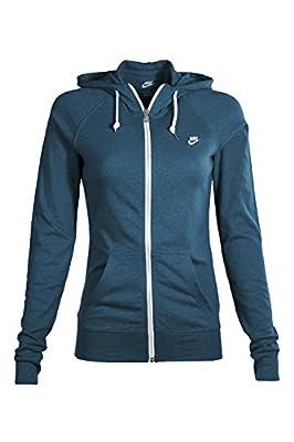 Nike Women's Sport Casual Zip Up Hoodie (Dark Blue)