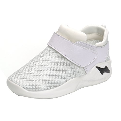 MK MATT KEELY Kids Mesh Running Sneakers Baby Boys Girls Anti-Slip Casual Shoes White 26 by MK MATT KEELY