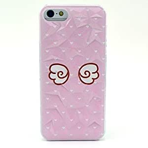 Cute Angel Wings Pattern Hard Case for iPhone 5/5S