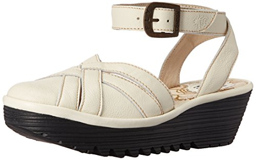 Read731fly Sandal Off Women's London Flat Mousse Fly White EwRqz