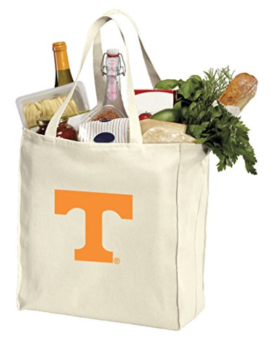 Reusable University of Tennessee Grocery Bags or Tennessee Vols Shopping Bags Natural Cotton