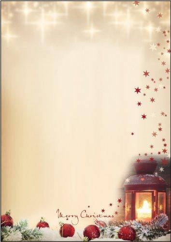 Kangaro 80002 Hochwertiges Weihnachtsbriefpapier Christmas Scene