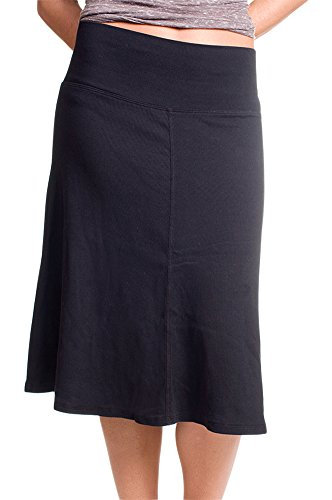 Hard Tail roll down A-line skirt (black) (medium) (Hardtail Roll)