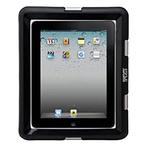 Universal iPad Waterproof Case, Marine Water Resistant IPX8 Outdoor Rugged Heavy Duty Tough Durable Shockproof Dustproof Protective Case with Screen Protector and Headphone Jack (Black)