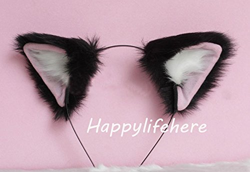 Halloween Cute Party Anime Cosplay Costume Kitty Cat Ears Headband -