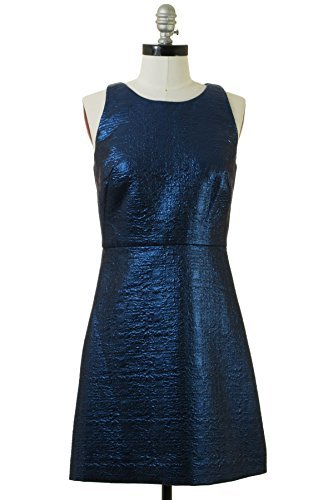 eck Wool-Blend Sheath Dress, 4, Blue ()