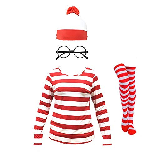 THYLL Cos Halloween Cosplay Costumes, Shirt Costume, Adult Funny Sweatshirt, Hoodie Outfit Glasses Hat Shirt Suits Adult Kids by THYLL Cos